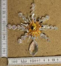 Details Zu Antiker Christbaumschmuck Schneeflocke Kristall Gablonzer Glas Böhmen