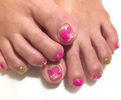 ビビッドピンクの大輪花ネイル ちょっこしnail