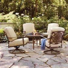 patio with fire pit. Cavasso 5-Piece Aluminum Outdoor Patio Fire Pit With