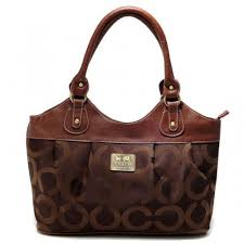 Coach In Monogram Medium Coffee Satchels 492