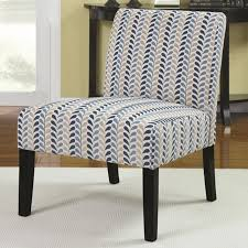finley blue fabric accent chair design features polished hardwood flooring and white large carpet