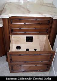 bathroom cabinets with electrical outlets bathroom cabinet w ...