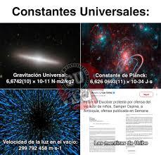 Resultado de imagen de Constantes universales