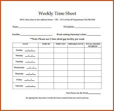 Bi Weekly Timesheet Template Business