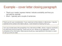 Closing In A Cover Letter Cover Letter Closing Use Resume In A Sentence Resume