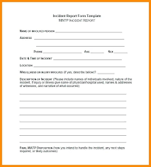 Template Incident Report Form Template Doc Hospital Word Hospital