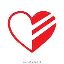 Half Heart Template Heart Half Painted Logo Template Vector Download