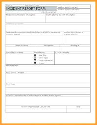 Osha Incident Report Form Template