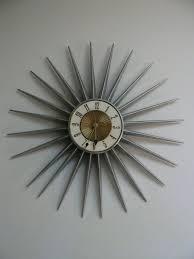 mid century elgin starburst wall clock