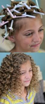 How cute! Use drinking straws to get super curly hair.I so would ...
