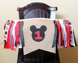 diy mickey mouse high chair banner creative decoration