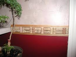 wine cork chair rail design ideas