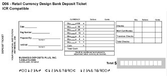 deposit slip examples deposit tickets bank deposit slips business deposits plus