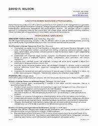 Objective Statement Resume Examples New Hr Generalist Resume