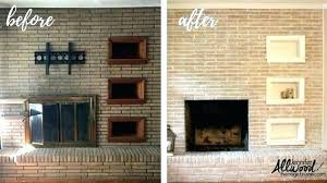 fireplace paint colors painted ideas awesome inside stone grey