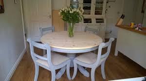 refurbished dining tables surrey. annie sloan \u0027paris grey\u0027 solid pine round extending table \u0026 refurbished dining tables surrey s