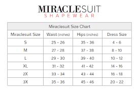 62 Reasonable Miraclesuit Shapewear Size Chart