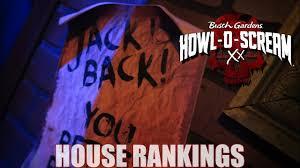 howl o scream 2018 house rankings busch gardens williamsburg hos
