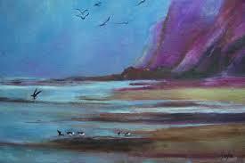 landscape paintings painting vibrant landscape paintings sea s birds virgilla art by virgilla