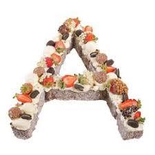 Letter A Chocolate Lamington Surprise Cake Birthday Cake Auckland