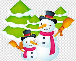 Santa Claus Christmas Gift Card Template Winter Snowman