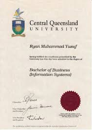 Bachelor Of Business Certificate