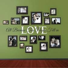 go with free form photo collages for eclectic wall decorations picture frame decor rustic collage without