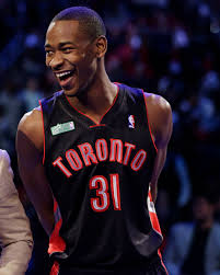 terrence ross of the toronto raptors reacts after winning at the slam dunk during nba jeremy evans