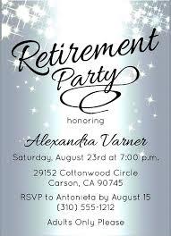 Retirement Announcement Flyer Free Wonderful Party Invitation Flyer