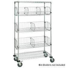 costco wire shelving wheels chrome shelf cart with bins direct 1