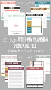 30 Page Wedding Planning Printable Set Available In 4 Color