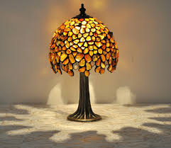 Small Decorative Table Lamps Small Amber Table Lamp Tiffany Technique The Lamp Is Made Of 6
