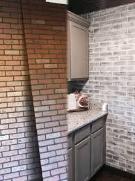 Brick Backsplash Tile kitchen ideas interior brick wall modern backsplash tile brick 8092 by guidejewelry.us