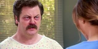 Ron Swanson Chart Of Manliness Ep 18 Animal Control Ron Swansons Medical History Ron