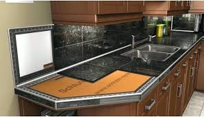 Black Granite Countertops With Tile Backsplash Fascinating Black Granite Tile Countertop Kitchen Backsplash With Countertops