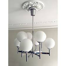 vintage chandelier in chrome with 8 lights by gaetano sciolari design market