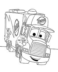 Cars mack coloring page for kids disney coloring pages printables free wuppsy