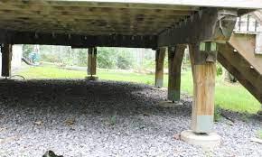 should you put gravel under a deck