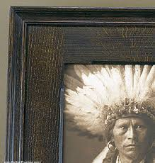 detail of framed photogravure with chamfered flat