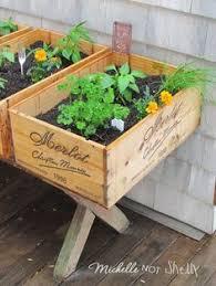 box garden. Unique Garden DIY Deck  Herb Garden Using Wine Boxes By Roslyn  Garden Designs  Pinterest Herbs Garden And Gardens Intended Box E