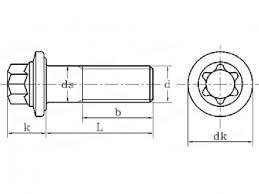 Fastenerdata Metric Coarse External Torx Bolt With Flange