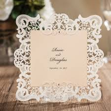 Vintage Wedding Invitation Vintage Border Embossed Laser Cut Wedding Invitations Vintage