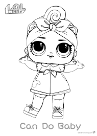 Lol Surprise Doll Coloring Pages Series 3 Can Do Baby Free