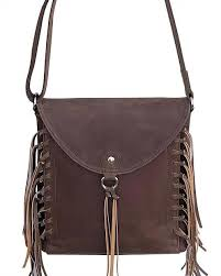 western leather fringe concealed carry purse