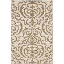safavieh florida 11 x 15 power loomed rug in cream and beige