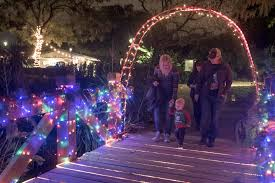 Fullerton Arboretum Holiday Visitors Take Luminaria Stroll
