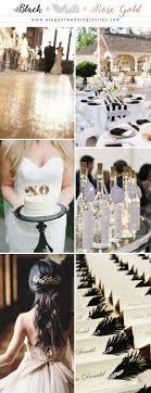 elegant black and white wedding glamorous rose gold wedding color palette ideas