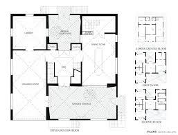 3 office modern cube house plans