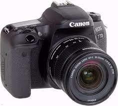 Canon EOS 77D DSLR Kamera vücut ile 18 55mm Lens|body