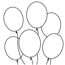 Disegno Di Palloncini Da Colorare Per Bambini